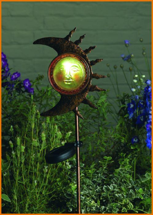 solar garten lampe solarstab mond leuchte neu ovp 5050642033619 ebay. Black Bedroom Furniture Sets. Home Design Ideas