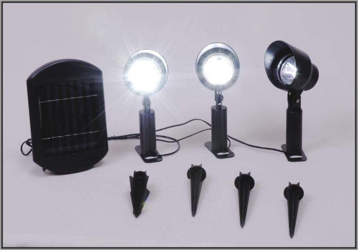 solar led strahler 3er set oslo solarleuchte garten ebay. Black Bedroom Furniture Sets. Home Design Ideas