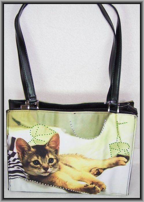katzen tasche cololine handtasche katze neu posten ebay. Black Bedroom Furniture Sets. Home Design Ideas
