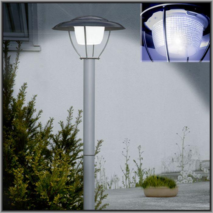 gro e leds solar garten stehlampe bis 2 meter h he. Black Bedroom Furniture Sets. Home Design Ideas