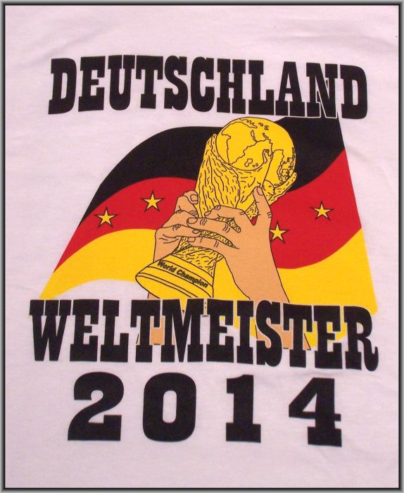 t shirt deutschland weltmeister 2014 gr e xxl trikot 4. Black Bedroom Furniture Sets. Home Design Ideas
