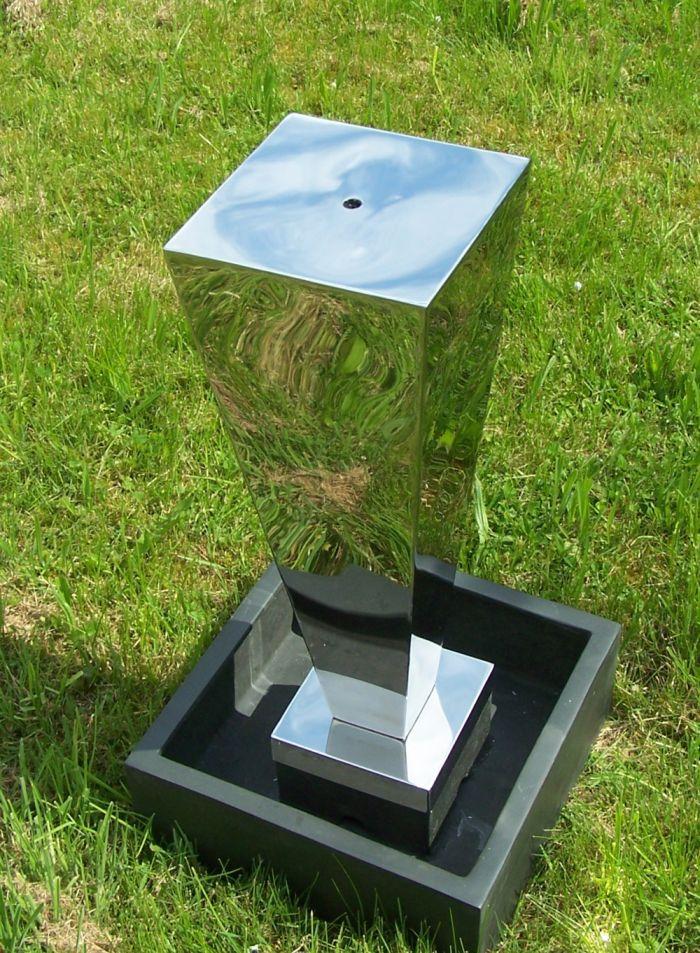 gartenbrunnen edelstahl s ulenbrunnen toronto ausstellungsst ck brunnen garten ebay. Black Bedroom Furniture Sets. Home Design Ideas