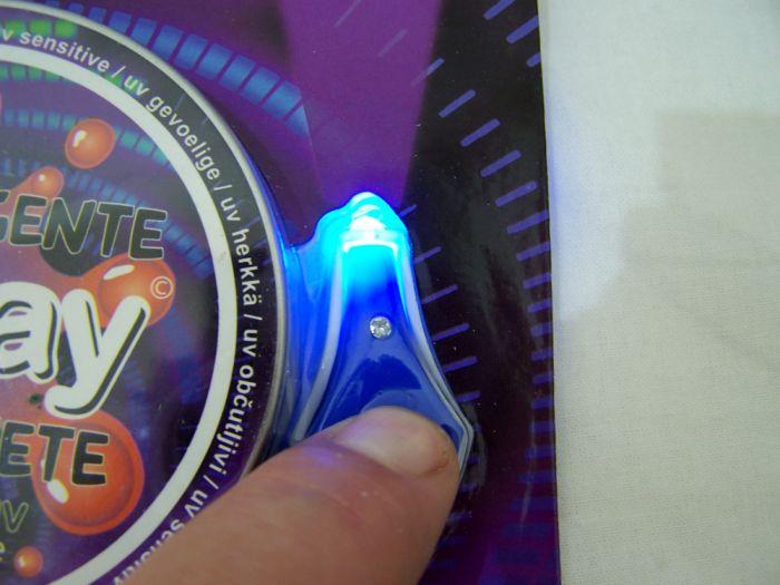 I-Clay Intelligente Knete UV-Sensitiv + UV Lampe Blau