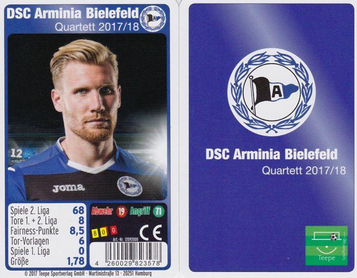 Details Zu Dsc Arminia Bielefeld Quartett Kartenspiel 2017 2018 Fussball Ball Neu Ovp
