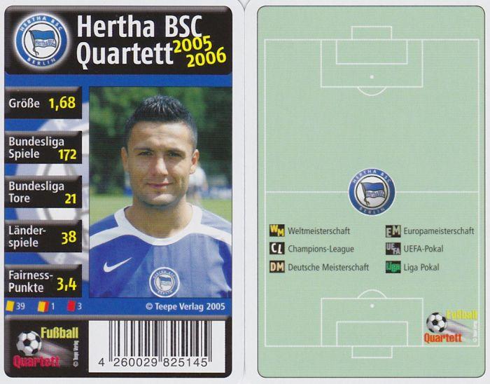Details Zu Hertha Bsc Berlin Quartett 2005 2006 Fussball Karten Kartenspiel Neu Ovp
