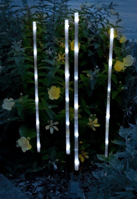 4er set solar leuchtst be garten licht wei e led neu ebay - Garten licht solar ...